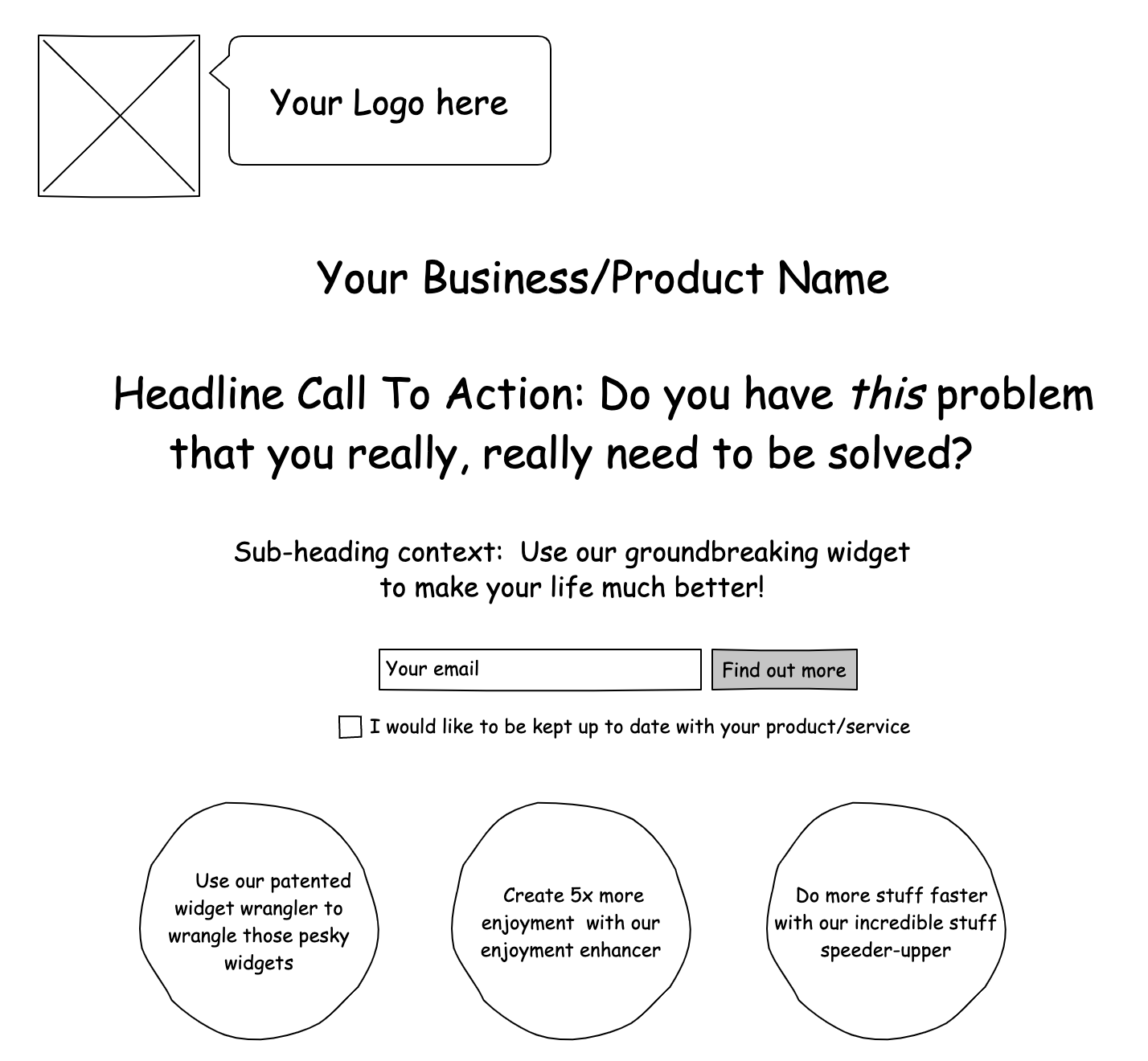 Example of a first-floor landing page